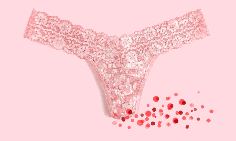 Real thong, period graphic