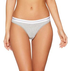 IRIS & LILLY  2-Pack Sporty Cotton Thongs, Grey