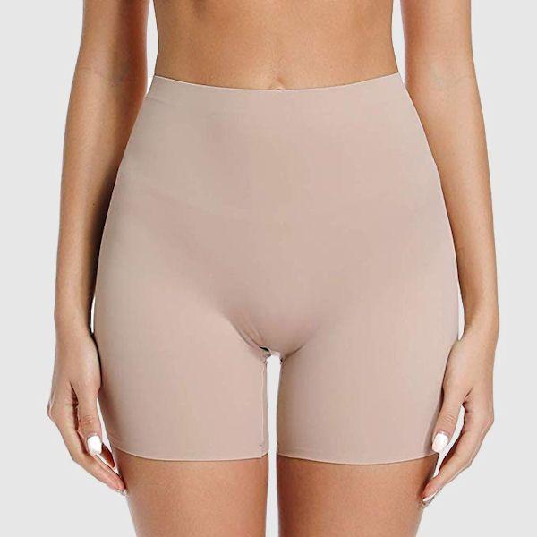 Mid thigh skin tone shorts