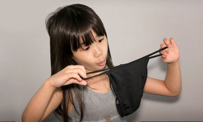 My daughter wants a thong