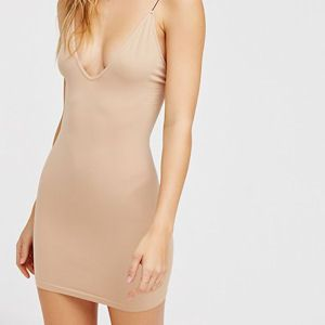 Tight fitted nude dress slip