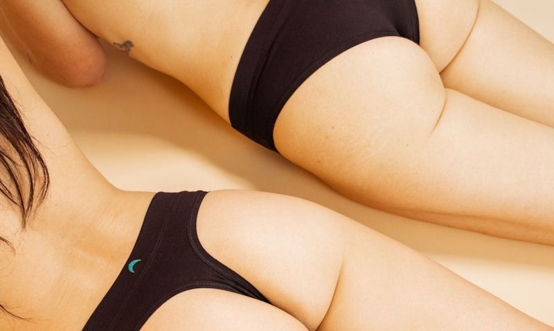 Women wearing thong and a cheeky
