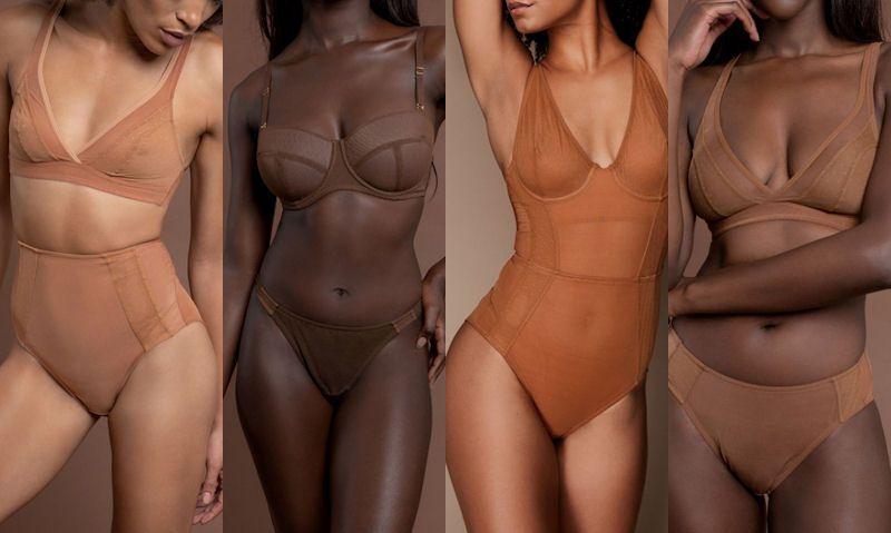 Underwear for dark skin women